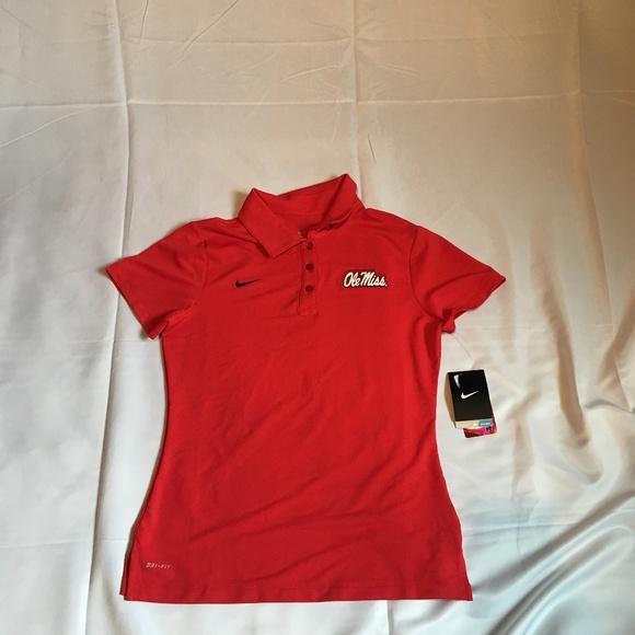 ab5394b3 Nike Tops | Ole Miss Rebels Drifit Womens Polo Shirt | Poshmark